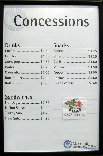concession stand price list template